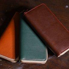 画像5: 4種類の革素材40カラー/ラウンドファスナーロングウォレット(送料無料) (5)