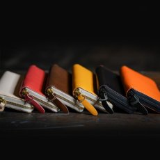 画像7: 4種類の革素材40カラー/ラウンドファスナーロングウォレット(送料無料) (7)