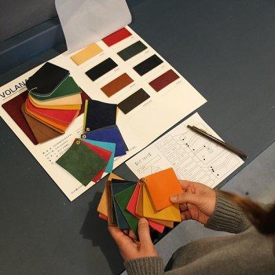 画像1: 10カラー国産ヌメ革/カラーカスタマイズ/レザーキーケース